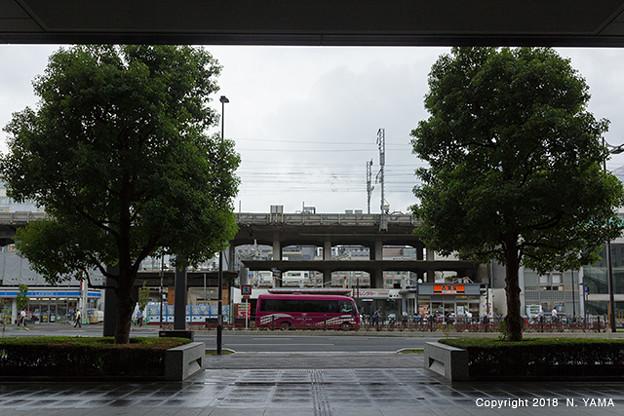 2018年9月7日、京都駅付近風景