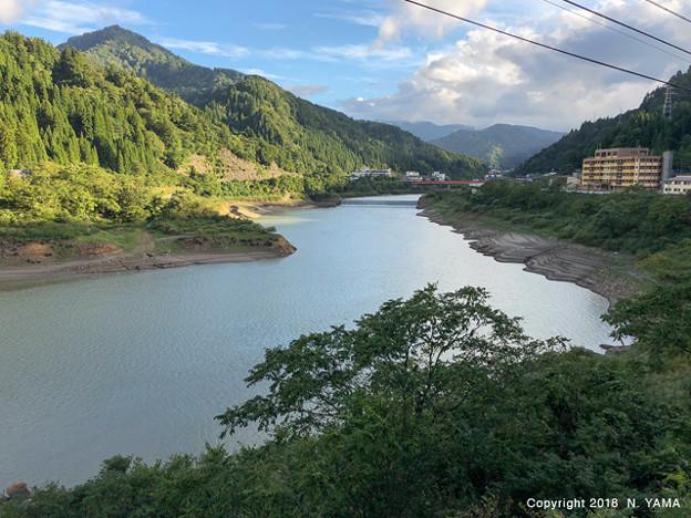 2018年9月22日、手取川ダム湖