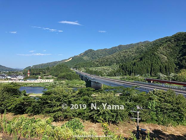 阿賀野川SA下り線眺望