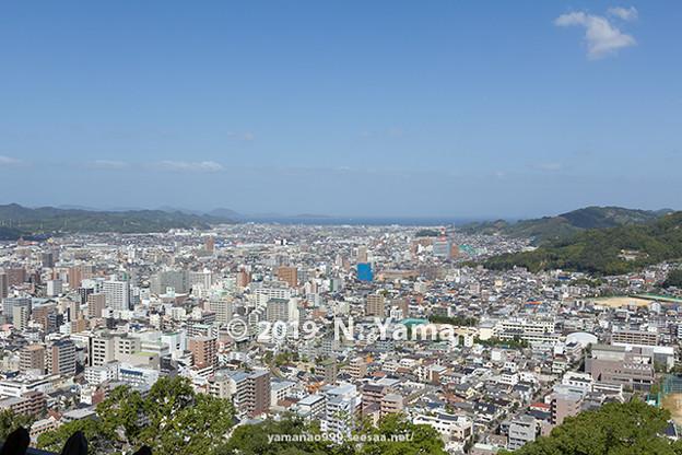 2019年10月13日、松山城からの風景