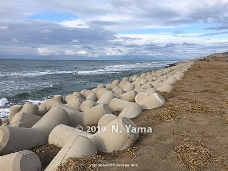 2019年12月29日、白尾海岸風景