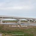 2020年10月10日、北陸新幹線 手取川橋梁