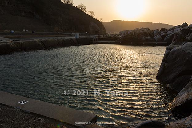 2021年2月21日、鴨ヶ浦風景