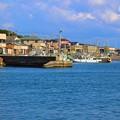 写真: 1.外川漁港と外川町-A