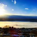 写真: 白い諏訪湖