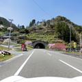 写真: トンネル上の里