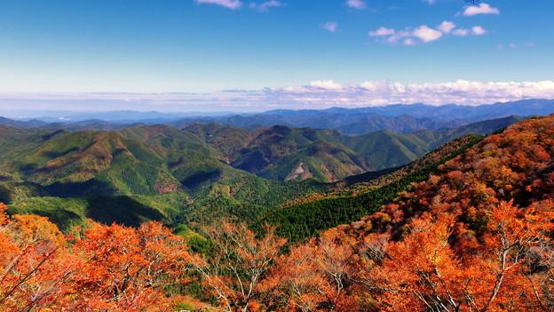 写真: 秋の立里荒神から