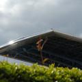 写真: 入場口の大屋根