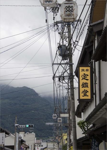 写真: 老舗旅館の新しい看板