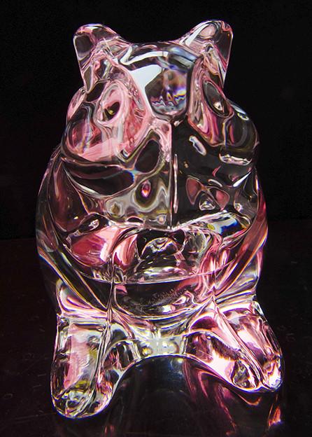 写真: テーブルフォト(ガラスの置物)