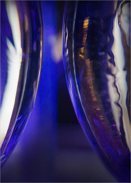 光るグラス