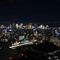 国技館越しの夜景