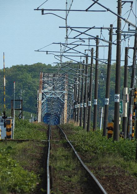 Photos: 鉄橋に続く