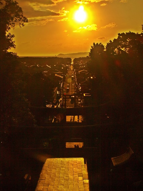 宮地嶽神社 光の道2020年10月