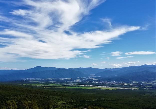 金峰山上空大鷲が如き雲