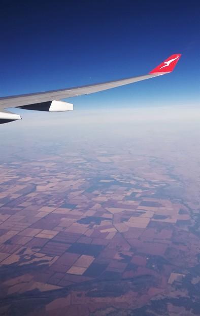 オーストラリア大陸農村上空