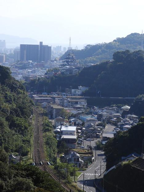 桜島方向の風景 西陵小プール脇から 鹿児島市