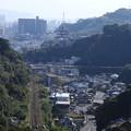 桜島向きの景色 西陵小プール脇から 鹿児島市