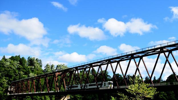 写真: 磐越西線の鉄橋