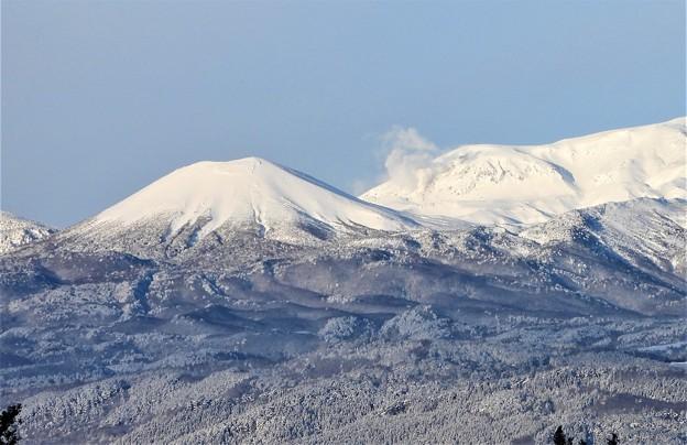 吾妻連峰の雪景色