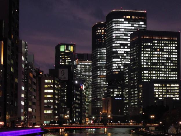 大阪淀屋橋の夜景
