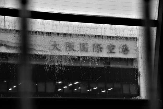 雨の大阪国際空港