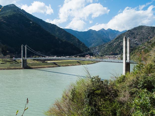 南アルプス接岨大吊橋 増水時