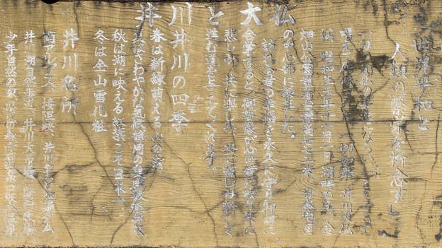 井川と大仏の説明板