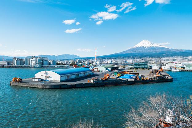 展望台から眺める富士山