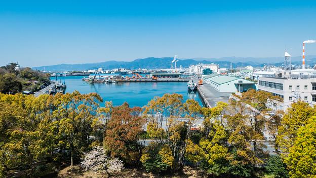鈴川港公園 津波避難タワーからの景色
