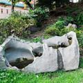 甌穴のあいた岩