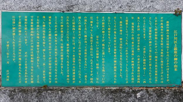 江戸川区と銀座の柳の由来