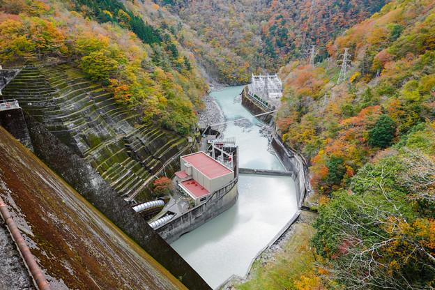 井川五郎ダム 堤体上からの眺め