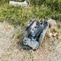 Photos: 火起こし用のコンクリートブロック