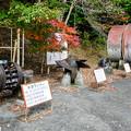 井川展示館裏の展示品