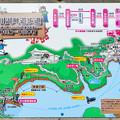 井川湖畔遊歩道 案内図