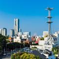 野毛山からの景色 横浜ランドマークタワー