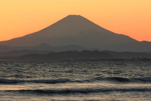Photos: 夕焼けの富士山