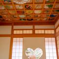 正寿院 猪目窓 花天井画