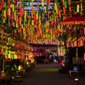 田川市三井寺 風鈴 ライトアップ 2
