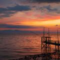 くもで網櫓と有明海夕景 4