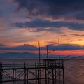 くもで網櫓と有明海夕景 5