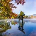 湯布院 金鱗湖 秋景色 3