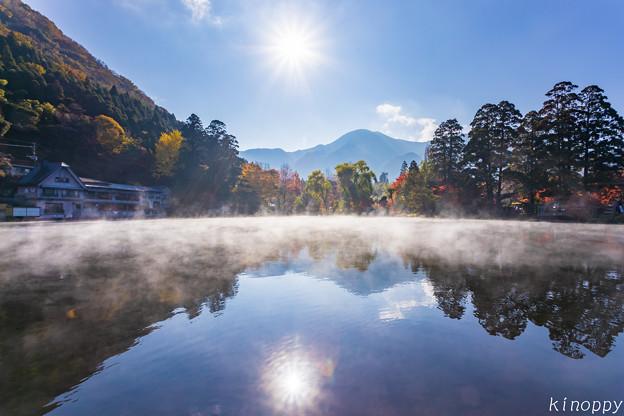 湯布院 金鱗湖 秋景色 4