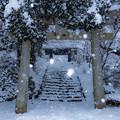 秋月城跡 雪景色