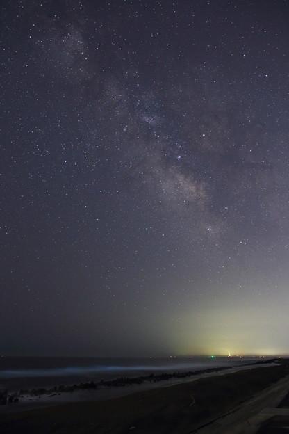 Photos: 蒼い渚に銀河昇る