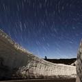 雪の回廊から北天を望む