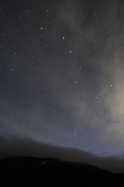 ネオワイズ彗星と北斗七星