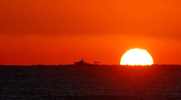 地中海の日の出