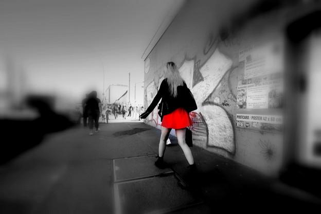 赤いスカート